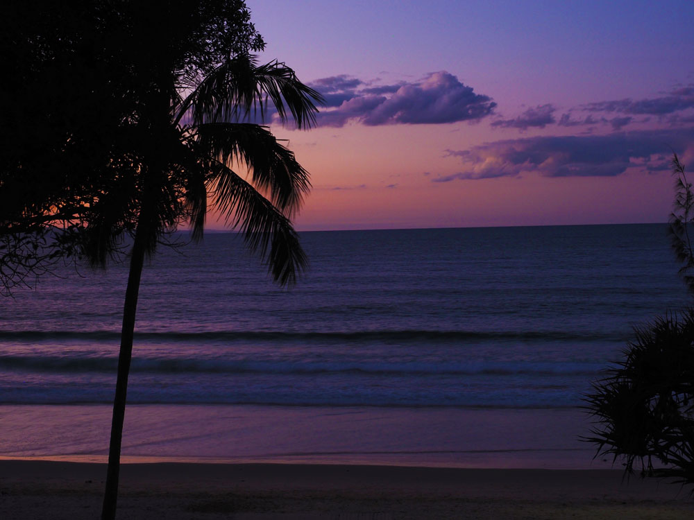 Winter sunset from the boardwalk - Noosa